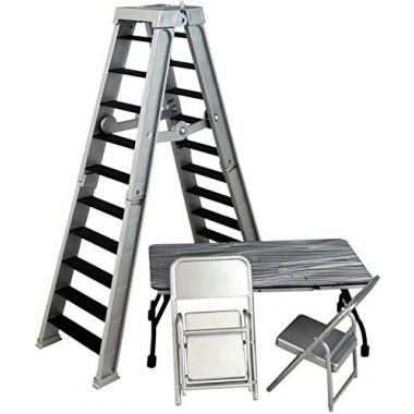 Accesorii WWE - Set scara, masa si scaune (argintiu)