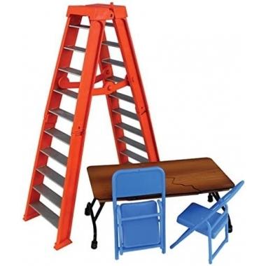 Accesorii WWE - Set scara, masa si scaune (portocaliu)