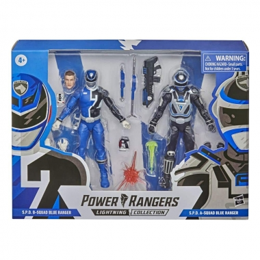Power Rangers Lightning Collection S.P.D. B-Squad Blue Ranger vs. S.P.D. A-Squad Blue Ranger 15 cm 2021 Wave 1