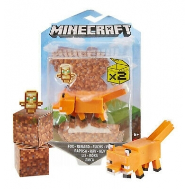 Minecraft, Craft-A-Block Figurina Fox 8 cm