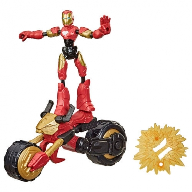 Marvel Rider Iron Man Bend and Flex, figurina 15 cm
