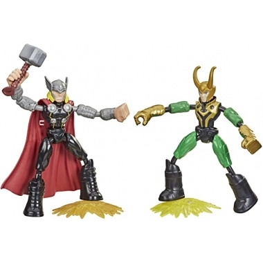 Marvel Thor vs Loki Bend and Flex set 2 figurine 15 cm