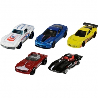 Set 5 masini Hot Wheels Corvette