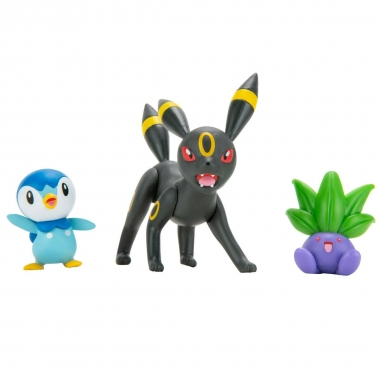 Pokémon Battle Mini Figurine Umbreon, Piplup, Oddish 5-8 cm