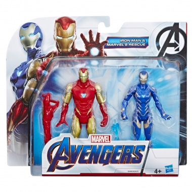 Marvel Avengers Set Figurine Iron Man and Marvels Rescue 15 cm