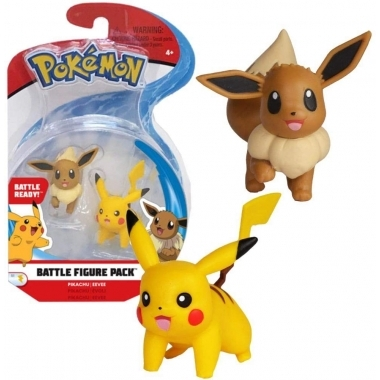 Pokémon Battle Mini Figures 2-Pack Eevee & Pikachu 5 cm