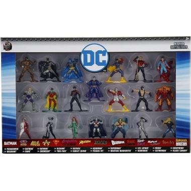 Set 20 de figurine metalice cu eroii DC Universe 4 cm