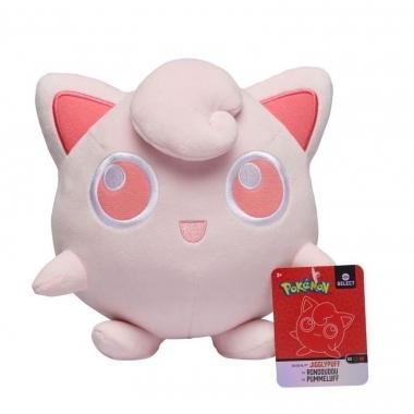 Jucarie de plus Jigglypuff - seria Pokémon Monochrome 20 cm
