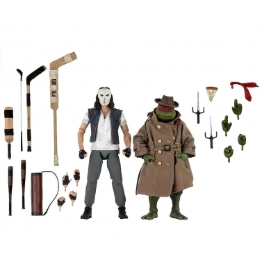 TMNT Movie Casey Jones And Raphael In Disguise 2-Pack 17 cm