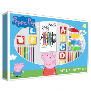 Peppa Pig - set activitati 67 piese ( 62 x 5 x 40 cm)
