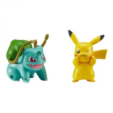 Pokemon Battle Pikachu & Bulbasaur minifigurine 5 cm