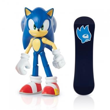 Sonic Figurina Sonic 10 cm cu accesorii (Snowboard)