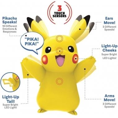 Pokemon Jucarie interactiva My Partner Pikachu 12 cm