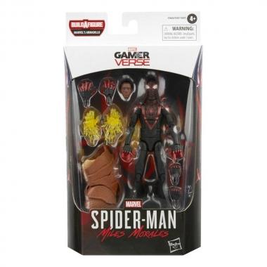 Figurina Miles Morales (GamerVerse) Black Suit Spiderman 15 cm
