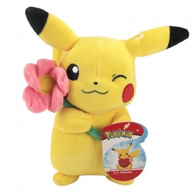 Pokémon - Jucarie de plus Pikachu cu floare 20 cm