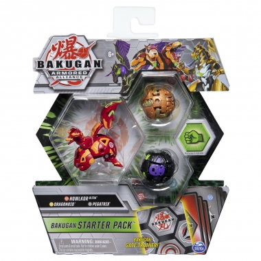 Bakugan S2 - pachet de start Dragonoid Howlkor si Pegatrix Ultra