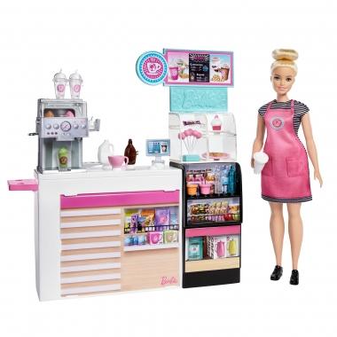 Barbie  - Set cafenea cu 20 de accesorii