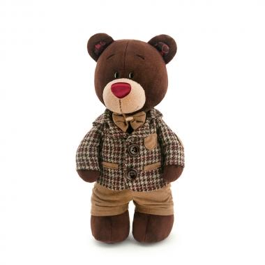 Choco, ursuletul in hainuta cu carouri, din plus, 30cm