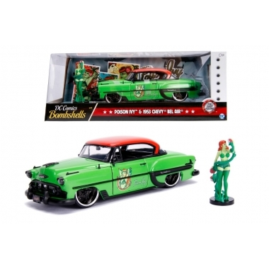 DC Bombshells 1953 Chevy Bel Air Hard Top, macheta auto 1:24