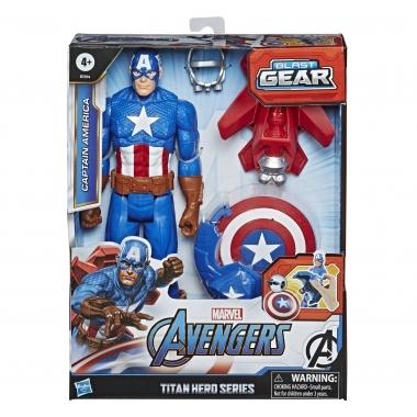 Figurina Avengers Titan Hero blast gear: Captain America 30 cm