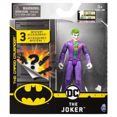 Figurina Joker 10 cm cu costum mov si 3 accesorii surpriza