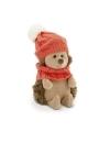 Fluffy, ariciul cu caciulita si fular roz, din plus, 15cm