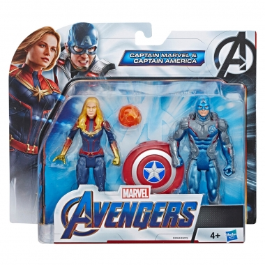Marvel Avengers Set Figurine Captain America si Captain Marvel 15 cm