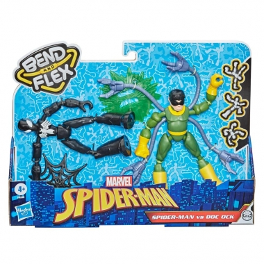 Marvel Spider-man vs Doc Ock Bend and Flex set 2 figurine 15cm