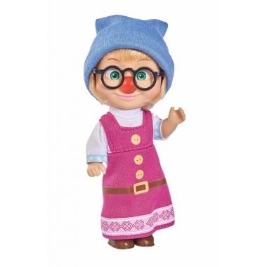 Papusica Masha star de cinema cu ochelari 12 cm