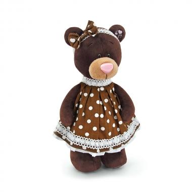 Milk, fetita ursulet in rochita cu buline, din plus, 30cm