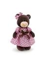 Milk, fetita ursulet in rochita, din plus, 25cm