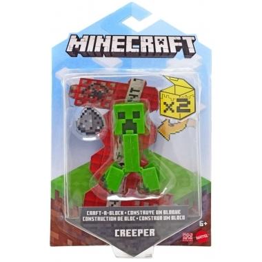 Minecraft, Craft-A-Block Figurina Creeper 8 cm