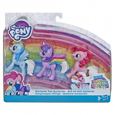 My Little Pony - set 3 ponei cu codite curcubeu