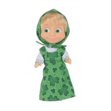 Papusica Masha in rochita verde 12 cm