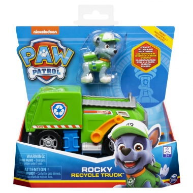 Patrula Catelusilor vehicule cu figurina Rocky