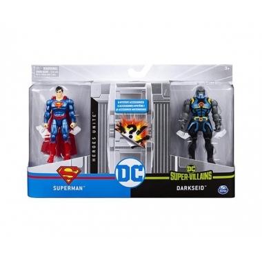 Set 2 figurine articulate Superman si Darkseid cu 6 accesorii