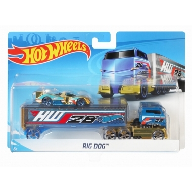 Set camion si masina sport Hot Wheels Rog Dog