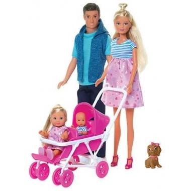 Set Steffi Love familie cu bebelus surpriza