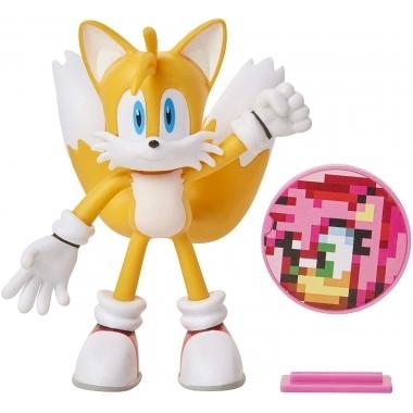 Sonic the Hedgehog, Tails figurina flexibila 10 cm cu accesorii