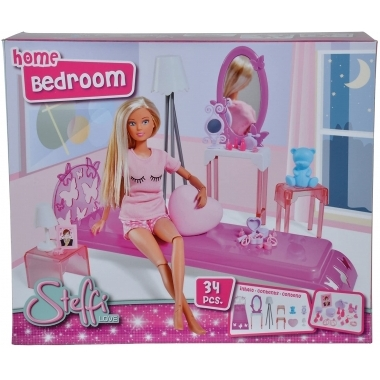 Steffi Love dormitor cu piese de mobilier si accesorii