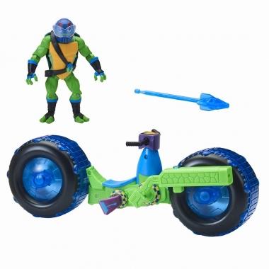 Testoasele Ninja - vehicul cu figurina Leonardo
