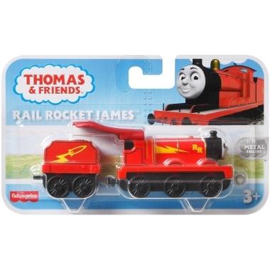 Thomas & Friends - Llocomotiva cu vagon push along  James