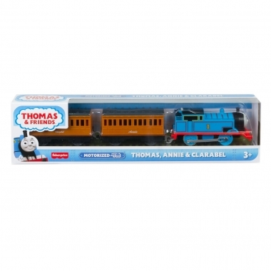 Thomas & Friends - locomotiva motorizata cu vagoanele Annie si Clarabel