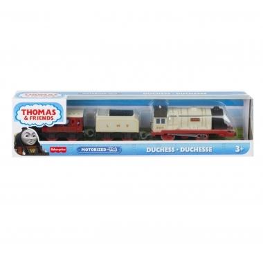 Thomas & Friends - locomotiva motorizata personajul Ducele cu 2 vagoane si accesorii
