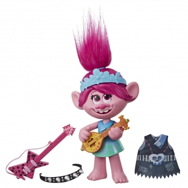 Trolls World Tour - figurina muzicala Pop to Rock Poppy